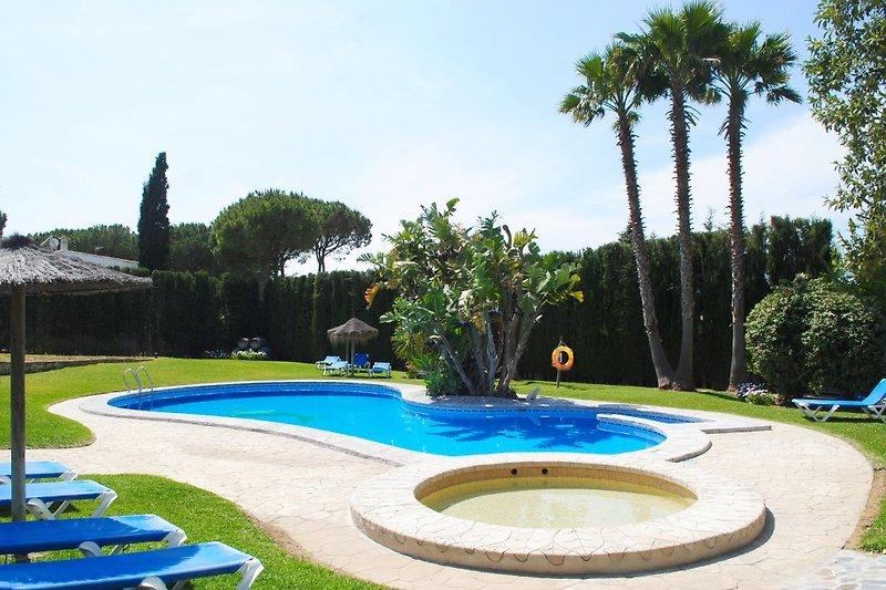Poolbereich der Anlage