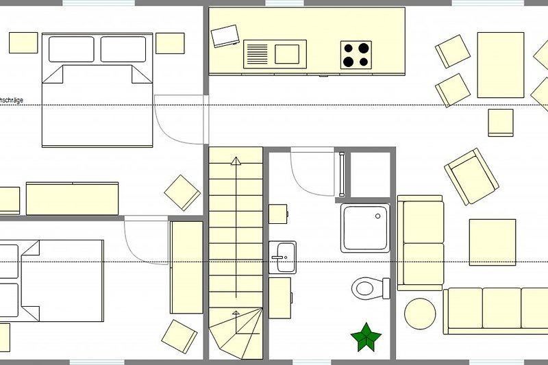 Ferienwohnung Flecken Zechlin Wohnung 3 Grundriss