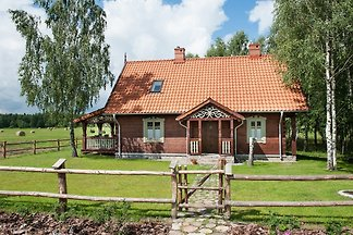 MAZURYchillout is a new wooden house in Masuria region, near Mikołajki. The house is available for 10 people, maximum 12. It is located in beautiful, calm area, ideal for relax.