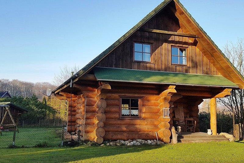 Blockhaus, Sauna, Kamin
