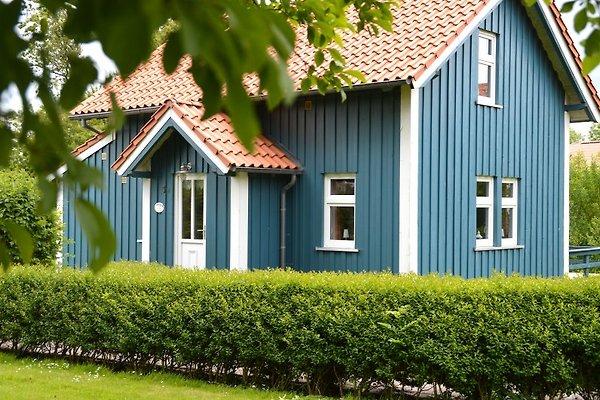 Blaues Sommerhaus