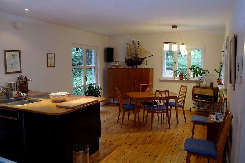 Ferienhaus Haus Havelland, Blick in die Wohnküche