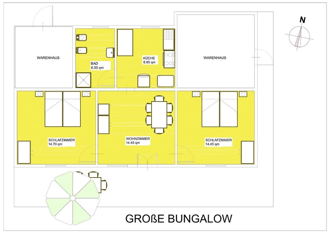 Bungalow grande casa vacanze in cavallino affittare for Piani di casa del bungalow del sud