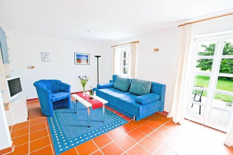 Fewo Inselschwalbe (D42): Ein Blick in das Wohnzimmer.