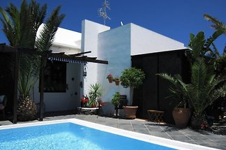 """""""Casa Rana"""" beautiful holiday home with sea view and heated pool in Tias, Lanzarote."""