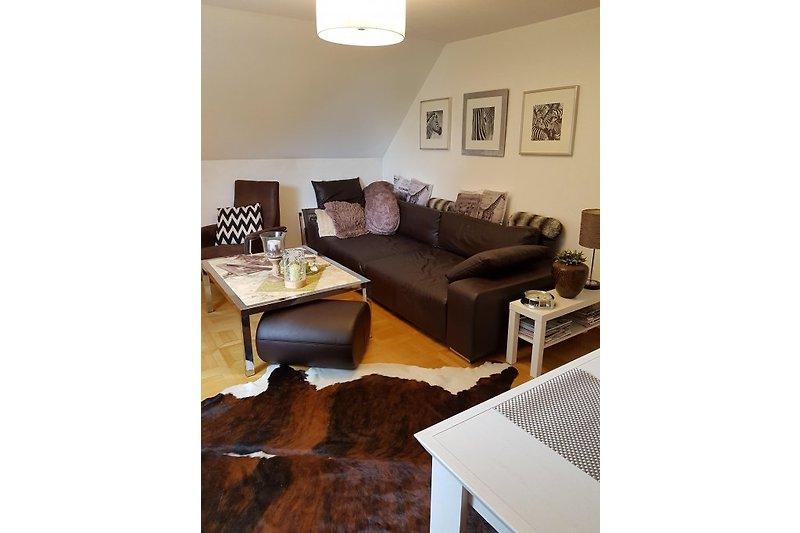 Wohnzimmer mit XXL Couch