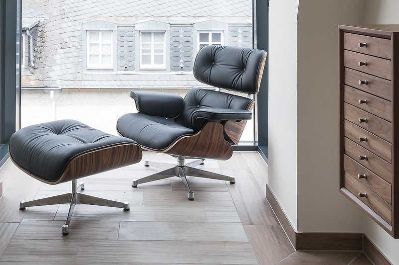 Eames Lounge Chair im Erker