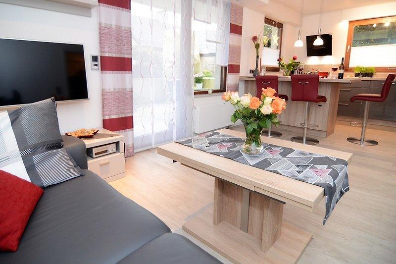 Wohnzimmer Essinsel Küche