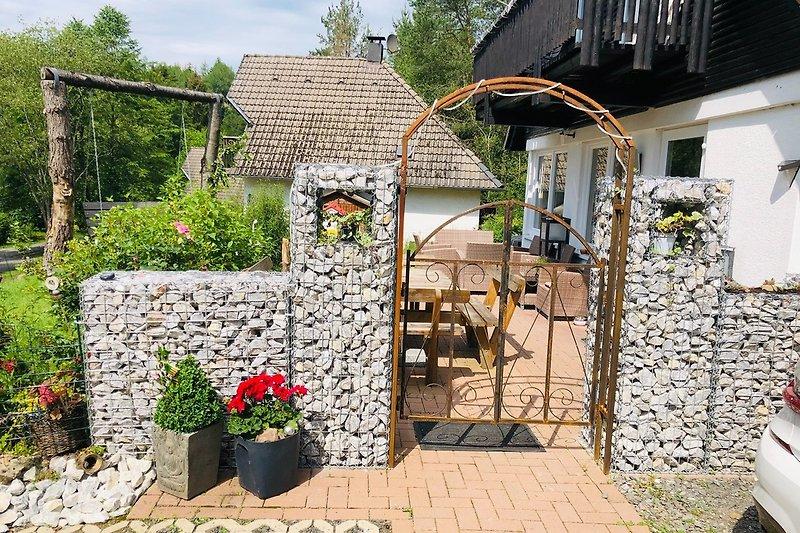 Eingang zur eingezäunten Terrasse/Garten