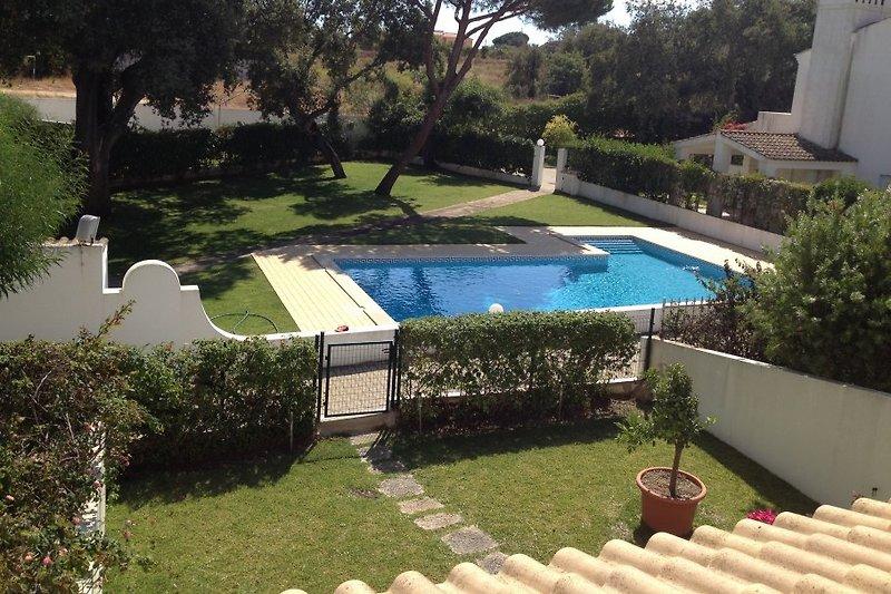 Blick auf Garten/Pool