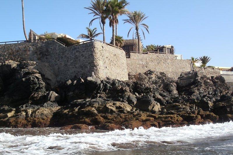 Ansicht des Hauses vom  aus Meer gesehen
