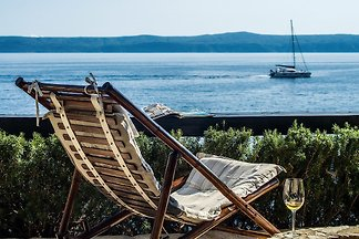Robinson house na plaży & łódka