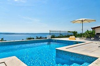 Ferienwohnung mit Pool & Meerblick