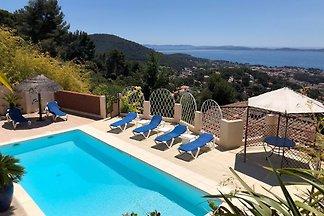 Villa vue mer 180° pisci privée 6p