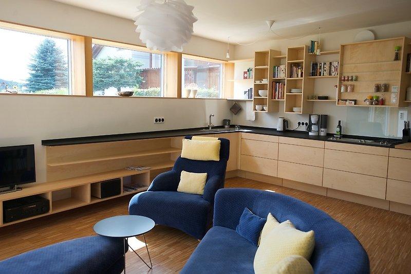 40 qm Wohnraum mit Küche