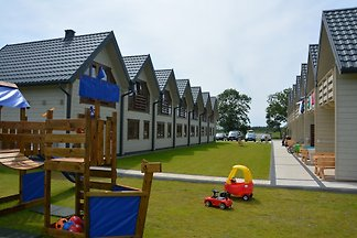 New complex opened in 2017 with 14 houses only about 120m from the beach in Grzybowo.