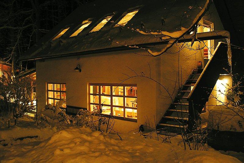 Ferienhaus Zu Brunn im Winter