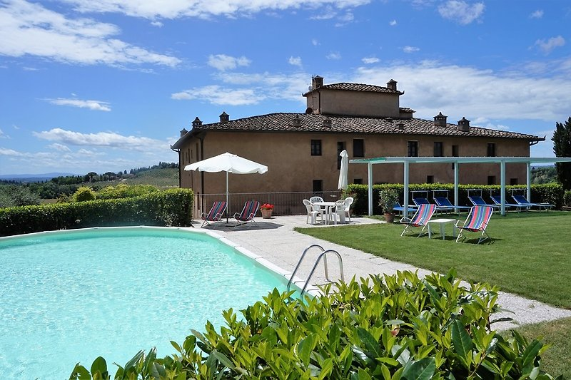 Holidayhome in Tuscany, private  pool area