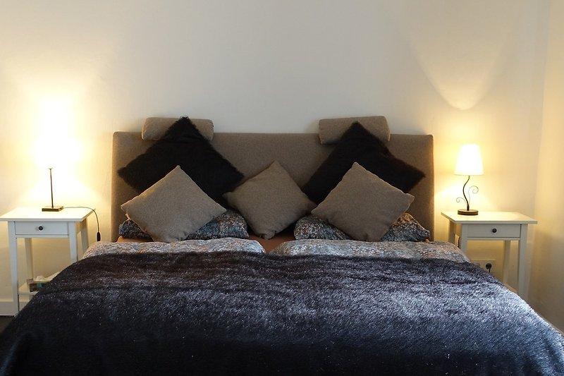 Doppelbetten ohne Fußteil