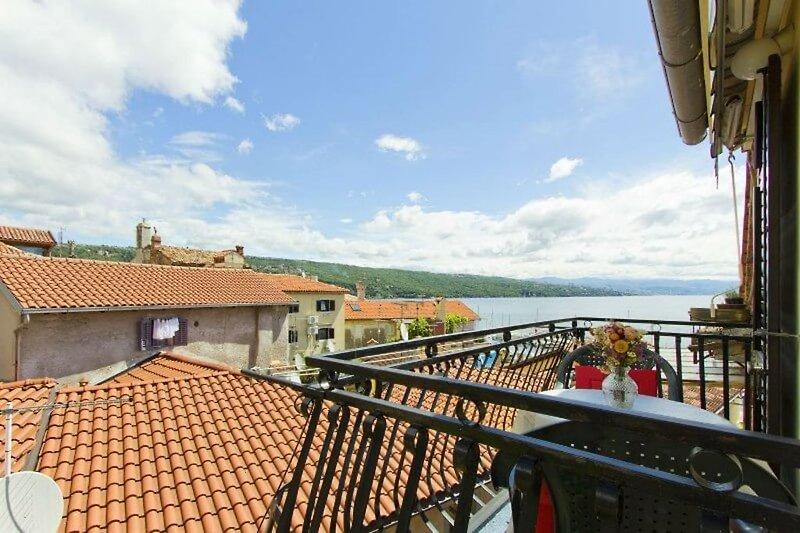 Apartment Studio 1 - Der Balkon mit Meerblick