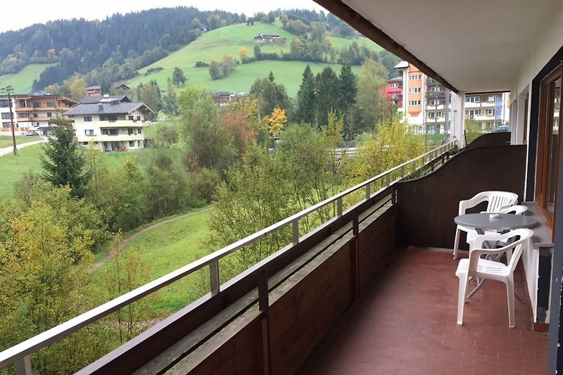 Lovely spacious balcony.