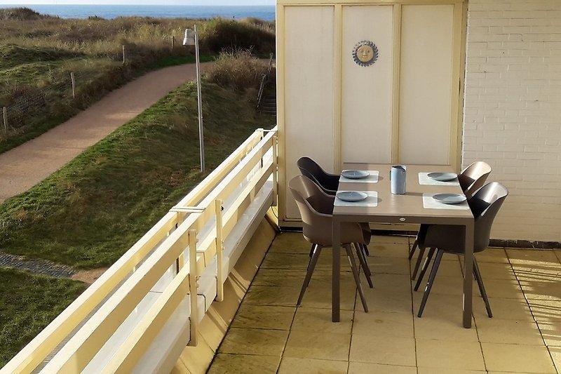 Das balkon mit Meerblick