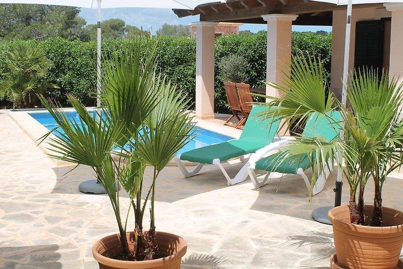 Poolbereich mit Terrasse