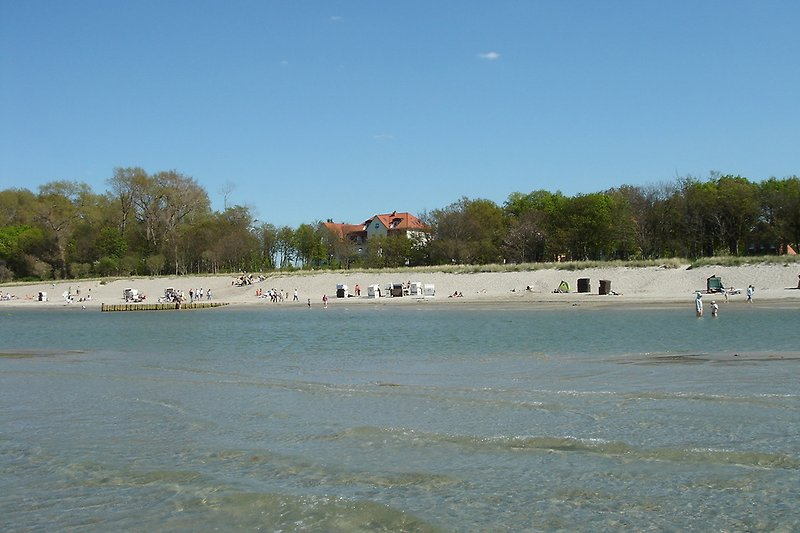 Strand Am Schrwarzen Busch mit Blick auf die Ostseeresidenz Meeresblick