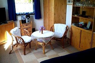 Die Ferienwohnung liegt in einem Einfamilienhaus im kleinen Dörfchen Serams, ca. 3 km vom schönen Ostseebad Binz entfernt. Von hieraus können Sie z.B.