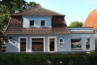 Blaues Haus am Meer