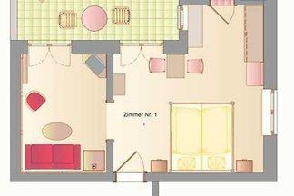 Suite, Doppelzimmer Nr. 1, EG
