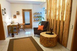 Unsere 3 Ferienwohnungen:  Fewo Kellerwald für bis zu 4 Personen,  Fewo Wiesengrund für bis zu 5 Personen und Fewo Baumkrone für bis zu 6 Personen.
