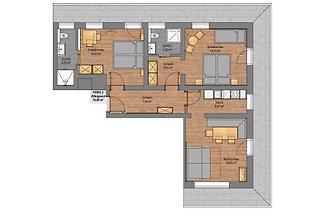 Apartment Zillergrund im Rosenhof - 2 Schlafz...