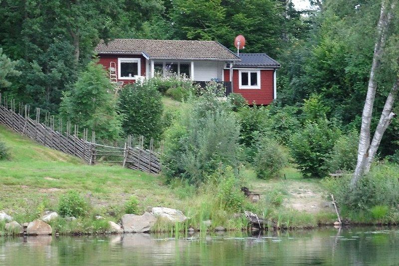 Die Lilla Villa vom See aus