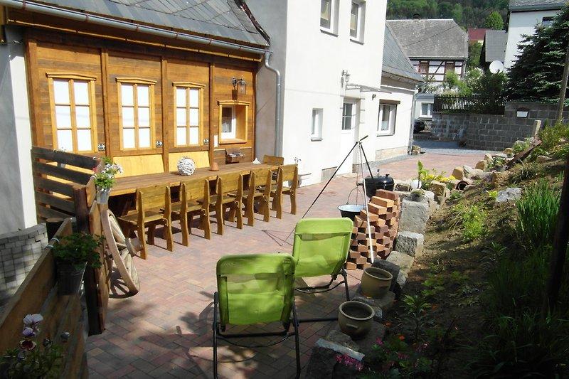 Ferienhaus mit gemütlicher Sitzecke