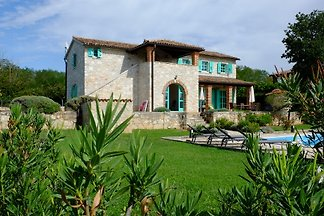 Istrian villa with pool, sea view