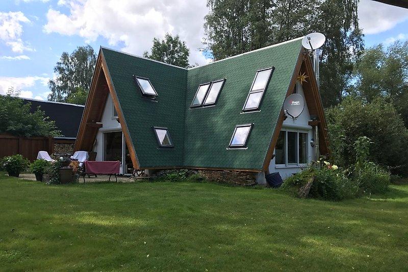 Unsere Finnhütte, 2015 gebaut.