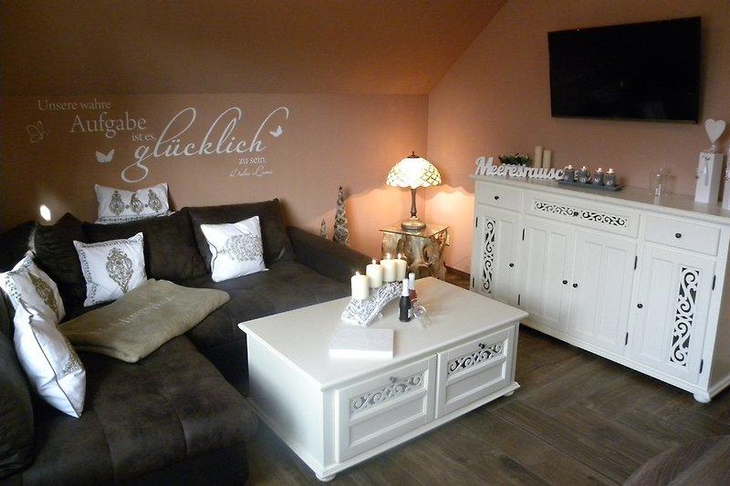 Gemütliches Wohnzimmer im Apartment Smile