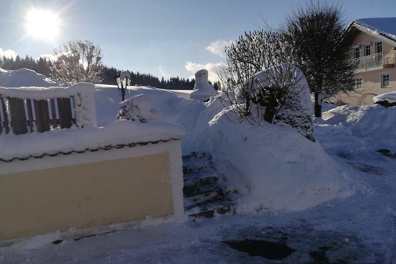 Aufgang im Schnee