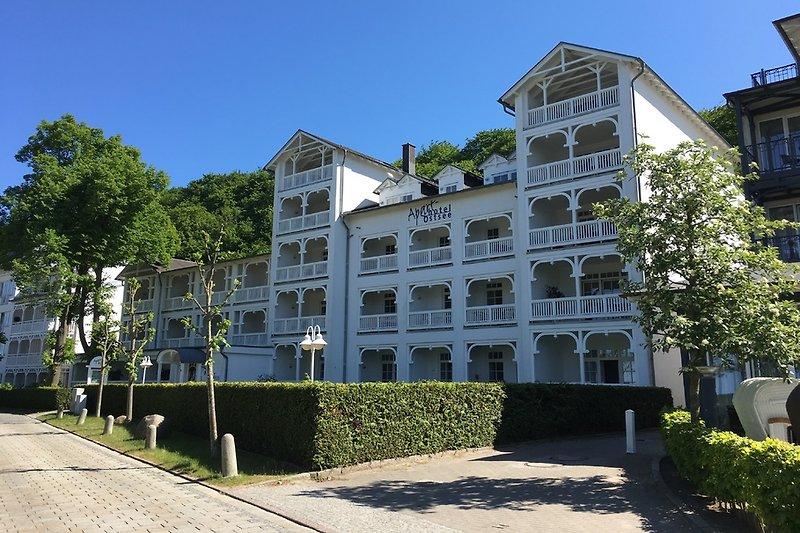 Das Apartmenthaus Ostsee in Binz.