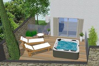 Wohnung mit Whirlpool im Freien