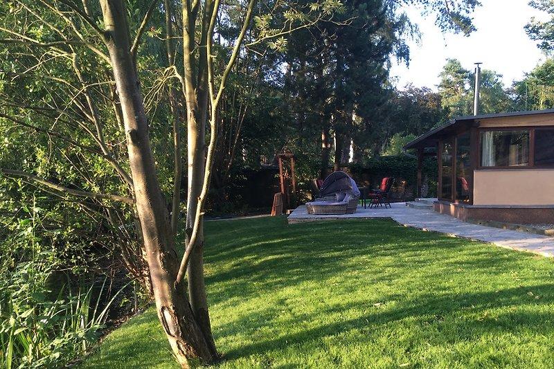 Garten/Terrasse direkt am See