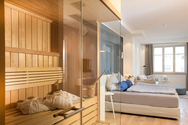 Klafs-Sauna im Schlafzimmer