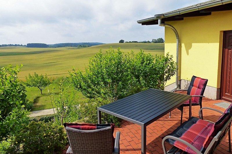 Freier Naturblick von der Terrasse