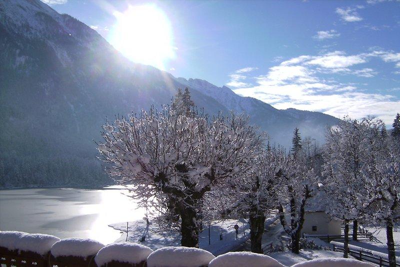 Sonnenterasse im Winter