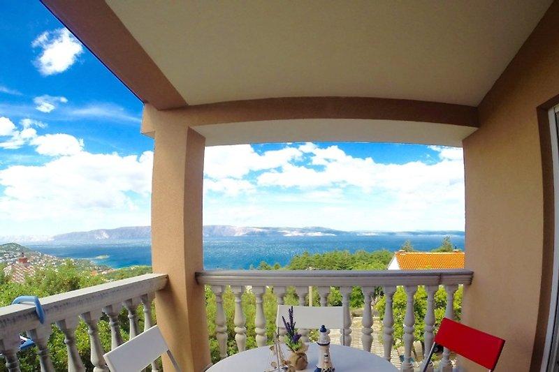 Balkon - mit Blick auf die Insel Krk
