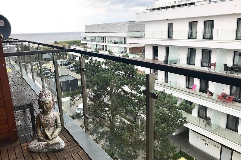 Blick vom Balkon Ostseite