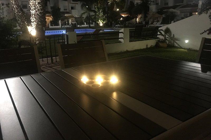 Pool- und Gartenblick vom Haus