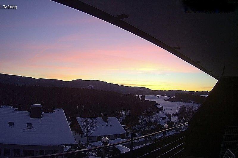 Blick bei Sonnenaufgang