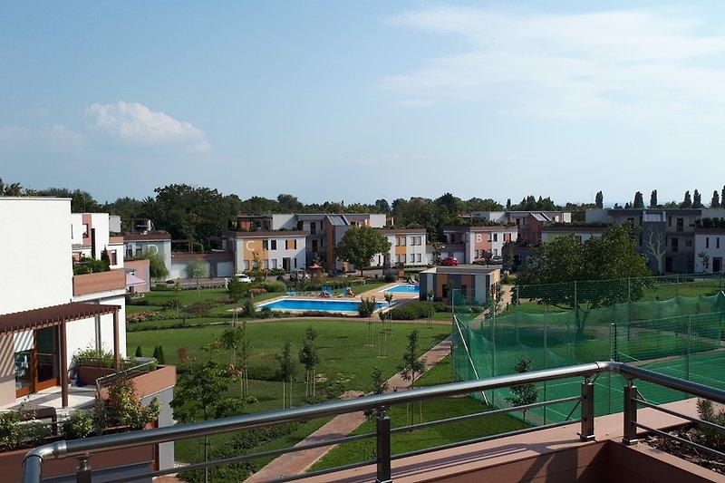 garden view from terrace